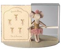 Maileg Dance Room With Big Sister Mouse Soft Toy